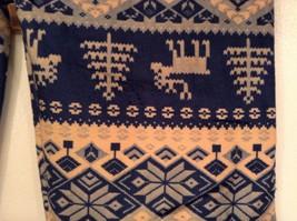 Holiday winter reindeer and snowflake Nordic velvet leggings image 4