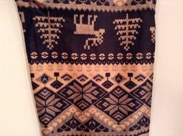 Holiday winter reindeer and snowflake Nordic velvet leggings image 13
