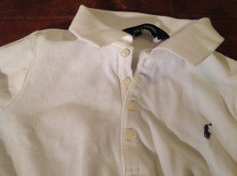 Long Sleeve White Ralph Lauren Collared with Buttons Polo Shirt image 7