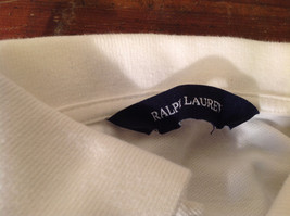 Long Sleeve White Ralph Lauren Collared with Buttons Polo Shirt image 5