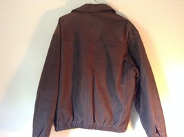 Long Sleeve Zip Up with Snap Structure Architects of Style Leather Jacket Size L image 2