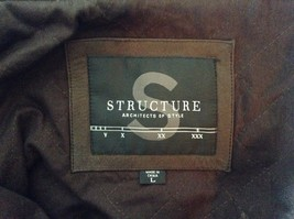 Long Sleeve Zip Up with Snap Structure Architects of Style Leather Jacket Size L image 5