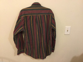 Lord & Taylor Mens Multicolor Striped Button Down 100% cotton Casual Shirt image 4