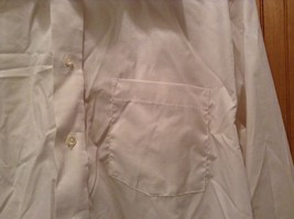 Long Sleeve White Dress Shirt The Arrow Company Button Down Size 34 to 35 image 2