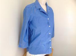 Lovely Eddie Bauer Blue Button Up Dress Shirt Made in Thailand Size Medium image 3