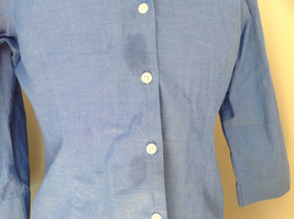 Lovely Eddie Bauer Blue Button Up Dress Shirt Made in Thailand Size Medium image 4