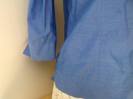 Lovely Eddie Bauer Blue Button Up Dress Shirt Made in Thailand Size Medium image 5