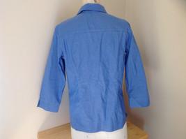 Lovely Eddie Bauer Blue Button Up Dress Shirt Made in Thailand Size Medium image 6