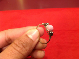 Homemade 10, 1 quarter ring wrap germanium to prevent tarnish pink silver image 2