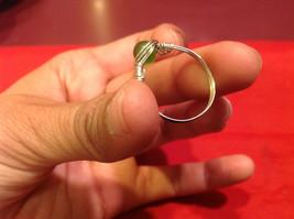 Homemade 11 quarter ring wrap germanium to prevent tarnish Green Silver image 3