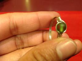 Homemade 11 quarter ring wrap germanium to prevent tarnish Green Silver image 10