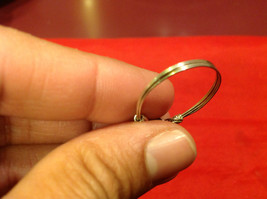 Homemade 11 quarter ring wrap germanium to prevent tarnish Green Silver image 11