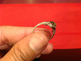 Homemade 6,1 quarter ring wrap germanium to prevent tarnish light green silver image 2