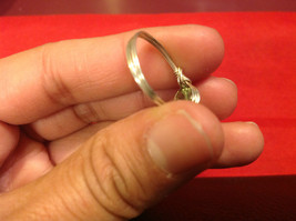 Homemade 6,1 quarter ring wrap germanium to prevent tarnish light green silver image 4