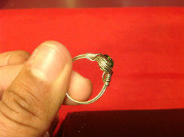Homemade 6,1 quarter ring wrap germanium to prevent tarnish light green silver image 8