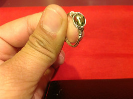 Homemade 6,1 quarter ring wrap germanium to prevent tarnish light green silver image 9