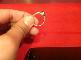 Homemade 6,1 quarter ring wrap germanium to prevent tarnish light green silver image 12