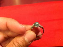 Homemade 2 quarter ring wrap germanium to prevent tarnish light sea brown image 2