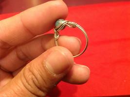 Homemade 2 quarter ring wrap germanium to prevent tarnish light sea brown image 6