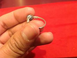 Homemade 2 quarter ring wrap germanium to prevent tarnish light sea brown image 5