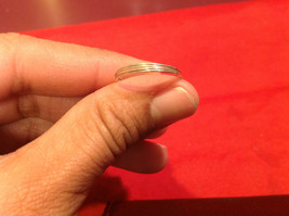 Homemade 7 ring wrap germanium to prevent tarnish Purple Silver image 3