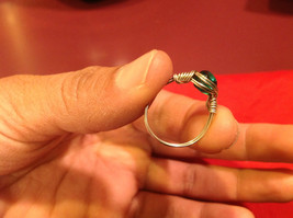 Homemade 6 and 1/4 Ring Wrap germanium to prevent tarnish Teal Torquoise Silver image 2