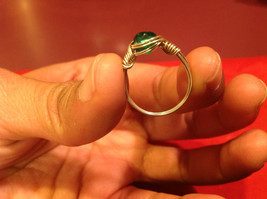 Homemade 6 and 1/4 Ring Wrap germanium to prevent tarnish Teal Torquoise Silver image 3
