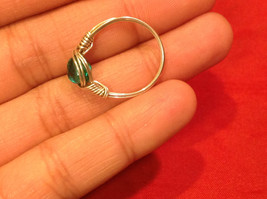 Homemade 6 and 1/4 Ring Wrap germanium to prevent tarnish Teal Torquoise Silver image 6