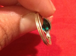 Homemade 6 and 1/4 Ring Wrap germanium to prevent tarnish Teal Torquoise Silver image 12