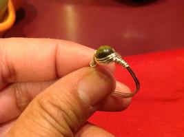 Homemade 7 ring wrap germanium to prevent tarnish Green Light Brown image 2