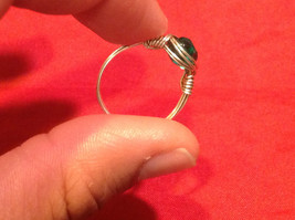 Homemade 6 and 1/4 Ring Wrap germanium to prevent tarnish Teal Torquoise Silver image 8