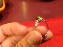 Homemade 7 ring wrap germanium to prevent tarnish Green Light Brown image 3