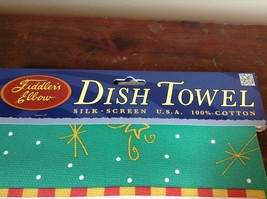 I Love You Down to Your Mistletoes on Fiddlers Elbow Card Dish Towel Made in USA image 3