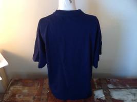 I E Baron Dark Blue Short Sleeve T-Shirt  Firenze Italia Embellished Size XL image 3