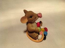 I Love My Yum Yums Charming Tails Figurine Mouse Eating Colored Jellybeans image 3