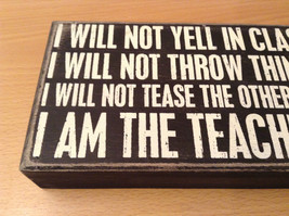 I Will Not Yell In Class I will not throw things I will not tease I am  teacher image 5