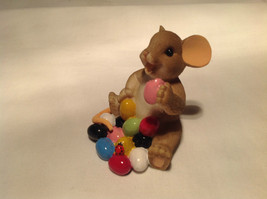 I Love My Yum Yums Charming Tails Figurine Mouse Eating Colored Jellybeans image 7