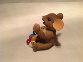 I Love My Yum Yums Charming Tails Figurine Mouse Eating Colored Jellybeans image 6