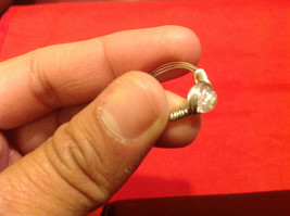Homemade 4.1 quarter ring wrap germanium prevent tarnish crystal glass silver image 6