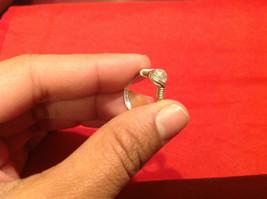 Homemade 4.1 quarter ring wrap germanium prevent tarnish crystal glass silver image 3