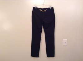 INC International Concepts Black Pants Chain and Decorative Buttons Size 6 image 2