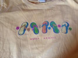 ICantoo Casual Wear Yellow Short Sleeve T Shirt Kona Hawaii Flip Flops Size S image 7