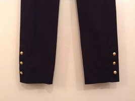INC International Concepts Black Pants Chain and Decorative Buttons Size 6 image 3