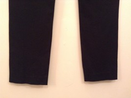 INC International Concepts Black Pants Chain and Decorative Buttons Size 6 image 5