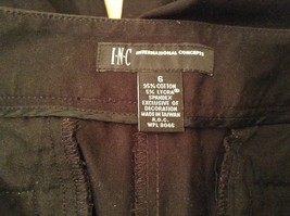 INC International Concepts Black Pants Chain and Decorative Buttons Size 6 image 6