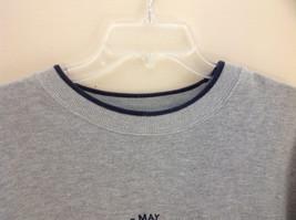 M & C Sport Gray Sweatshirt with Dark Blue Trim on Neck  Cuffs and Waist Size XL image 3
