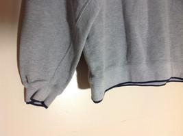 M & C Sport Gray Sweatshirt with Dark Blue Trim on Neck  Cuffs and Waist Size XL image 5