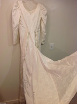 Maggie Flood Long Sleeve Carmen Sweep train Wedding Dress Made in USA CustomSize image 5