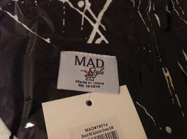 MAD New Sleeveless Summer Splatter Short Dress, Black or White image 9