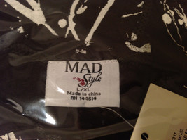 MAD New Sleeveless Summer Splatter Short Dress, Black or White image 10